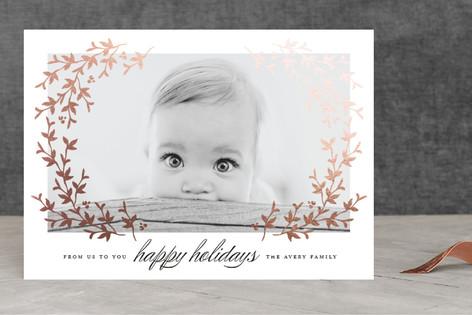 Lovely Laurel Foil-Pressed Holiday Cards