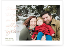 This is a green foil stamped holiday card by Ashley DeMeyere called Through the Years with foil-pressed printing on smooth signature in standard.