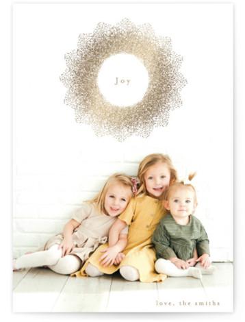joy starlight Foil-Pressed Holiday Cards