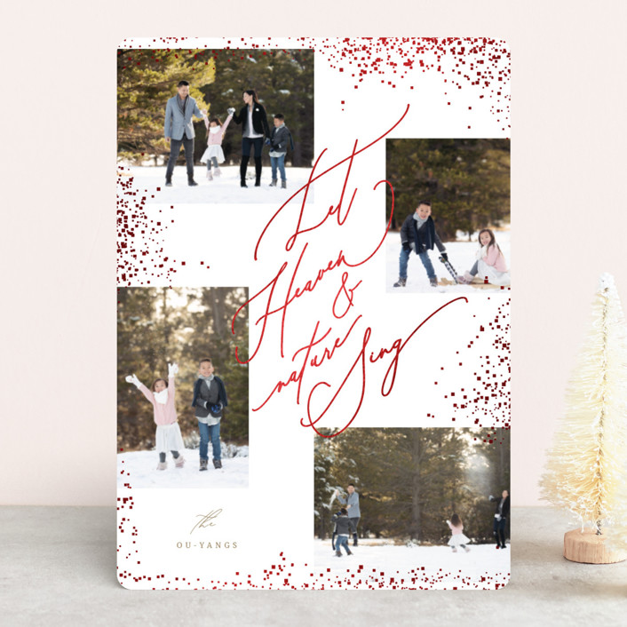 """""""Heaven And Nature"""" - Foil-pressed Holiday Cards in Vanilla by fatfatin."""