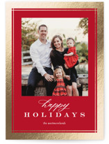 This is a red foil stamped holiday card by Jessica Williams called Sofisticato with foil-pressed printing on smooth signature in standard.