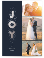 Joy stacked Foil-Pressed Holiday Cards By Stacey Meacham