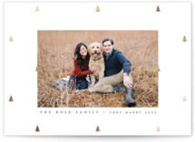 This is a grey foil stamped holiday card by Up Up Creative called Preppy Little Trees with foil-pressed printing on smooth signature in standard.