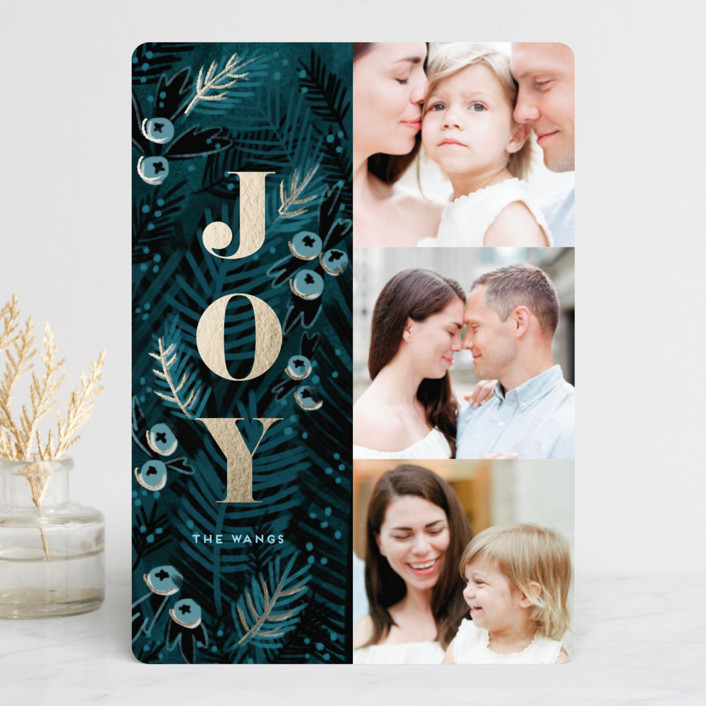 """""""Holy Night"""" - Foil-pressed Holiday Cards in Winter Night by iamtanya."""