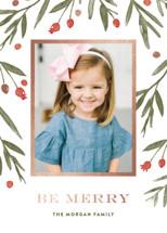 Winter Harvest Foil-Pressed Holiday Cards By Oscar & Emma