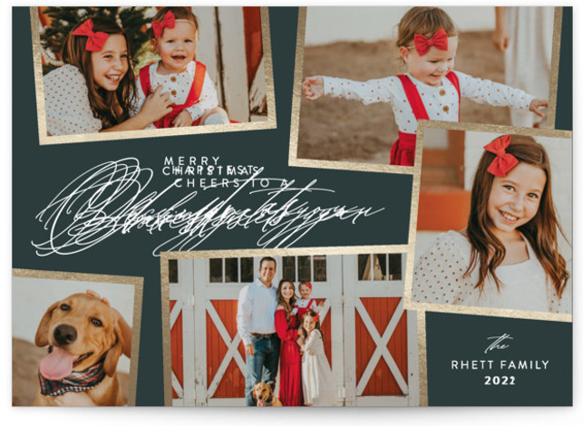 Holiday Scrapbook Foil-Pressed Holiday Cards