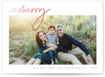 This is a grey foil stamped holiday card by JoAnn Jinks called Simplicity with foil-pressed printing on smooth signature in standard.