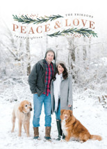 Peace & Love Arch Foil-Pressed Holiday Cards By Hooray Creative