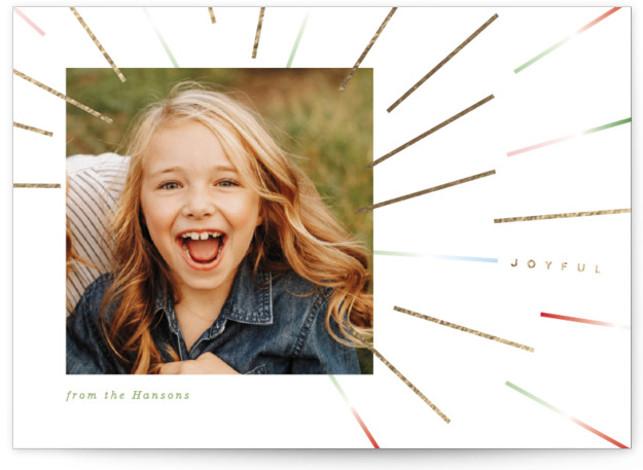 Joyful Sunburst Foil-Pressed Holiday Cards