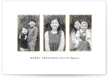 This is a white foil stamped holiday card by Julia Hall called Portraits with foil-pressed printing on smooth signature in standard.