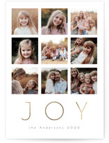 This is a white foil stamped holiday card by Nicole Walsh called Great Joy with foil-pressed printing on smooth signature in standard.