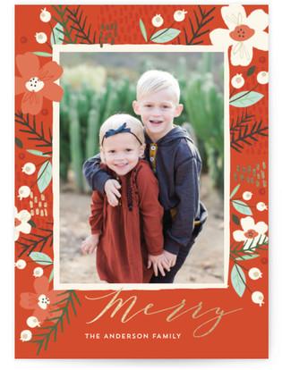 Wild Mistletoe Foil-Pressed Holiday Cards