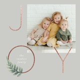 Laurel Ring Foil-Pressed Holiday Cards By Baumbirdy