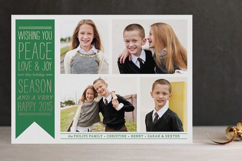 Wish Banner Foil-Pressed Holiday Cards