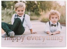 Happy Everything Foil-Pressed Holiday Cards