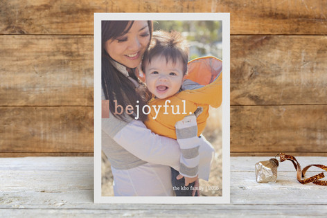 Be Joyful Foil-Pressed Holiday Cards