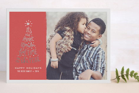 Most Wonderful Time Foil-Pressed Holiday Cards