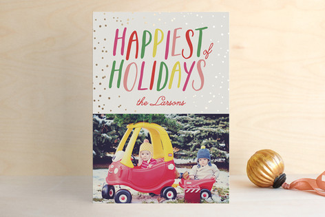 Happiest Foil-Pressed Holiday Cards