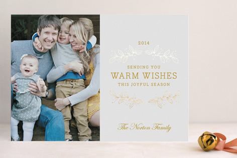 Joyful Season Foil-Pressed Holiday Cards