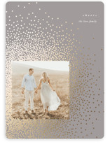 This is a grey foil stamped holiday card by Lori Wemple called Glitter with foil-pressed printing on smooth signature in standard.