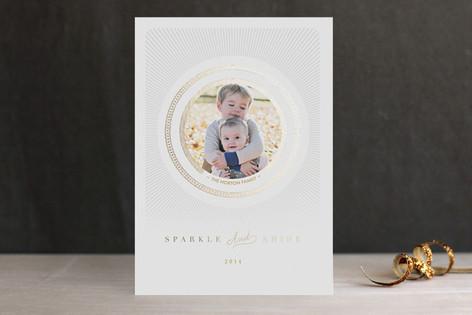 Radiant Shine Foil-Pressed Holiday Cards