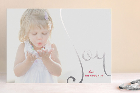 Overflowing Joy Foil-Pressed Holiday Cards