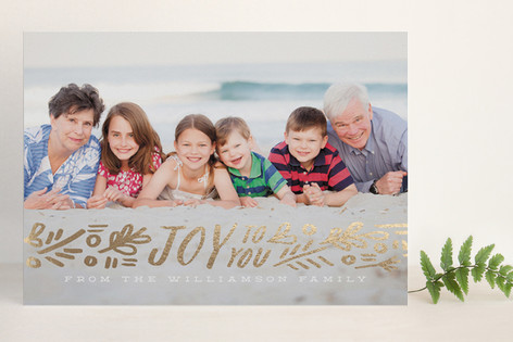 Ribbon of Joy Foil-Pressed Holiday Cards