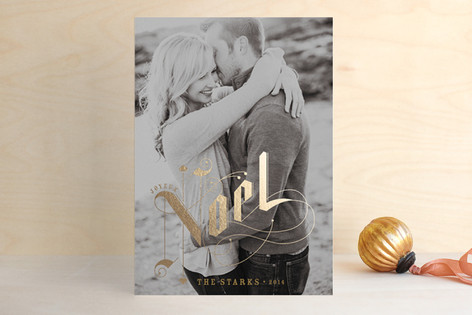Gilded Letters Foil-Pressed Holiday Cards