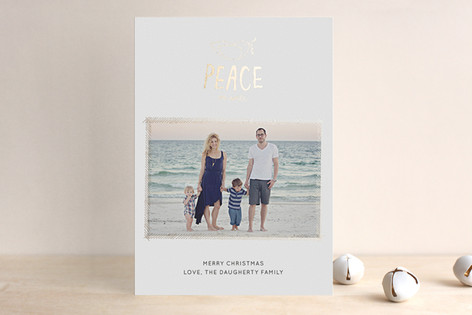 The Little Dove Foil-Pressed Holiday Cards