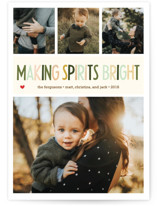 Making Spirits Bright Foil-Pressed Holiday Cards