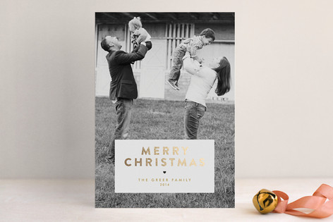 Gilded Christmas Foil-Pressed Holiday Cards