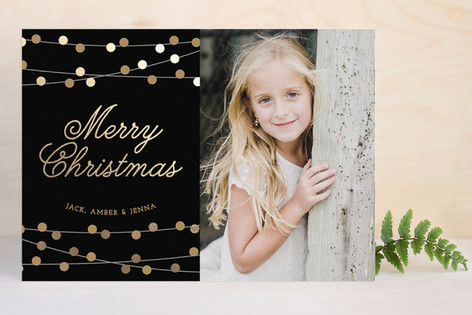 Christmas Twinkle Foil-Pressed Holiday Cards
