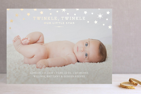 Twinkle Twinkle Foil-Pressed Holiday Cards