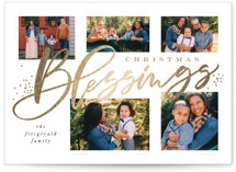 This is a gold foil stamped holiday card by Leah Bisch called Blessings Abound with foil-pressed printing on smooth signature in standard.