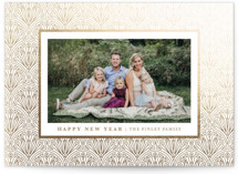 This is a brown foil stamped holiday card by Kristen Smith called Deco Details with foil-pressed printing on smooth signature in standard.