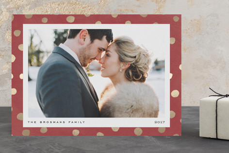 Pebble Dot Foil-Pressed Holiday Cards