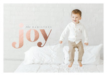 Frosted Joy Foil-Pressed Holiday Cards By Hudson Meet Rose