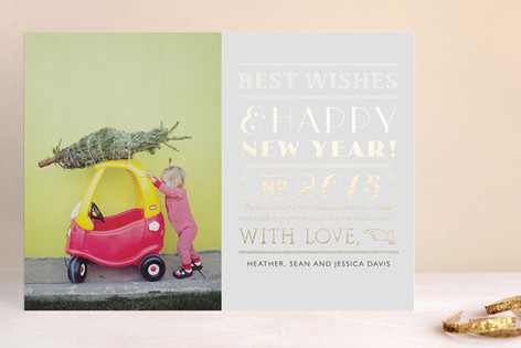 Roaring Foil-Pressed Holiday Cards