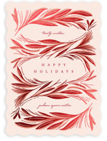 This is a pink foil stamped holiday card by Erin L. Wilson called Beauty with foil-pressed printing on signature in standard.