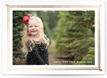 This is a white foil stamped holiday card by Annie Shapiro called Framed Photo with foil-pressed printing on smooth signature in standard.