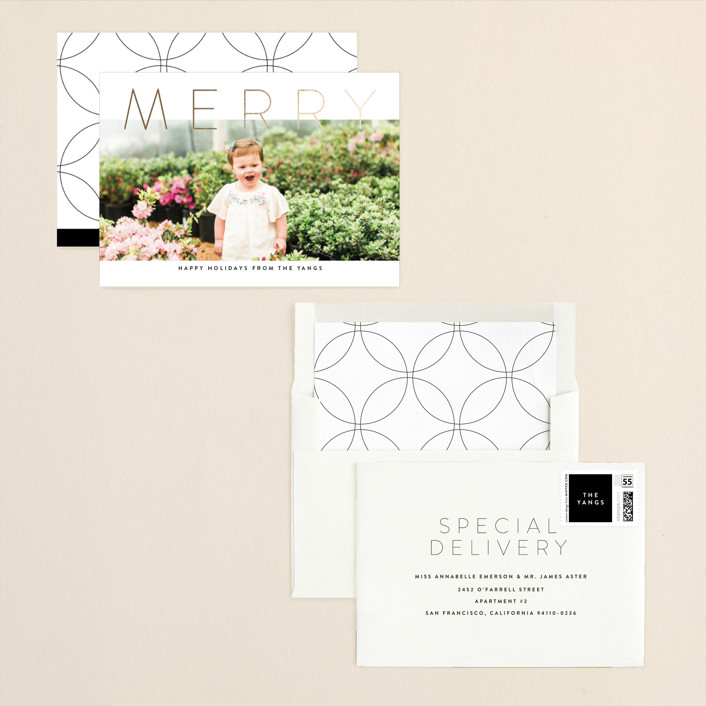 Topper Foil-Pressed Holiday Cards by Up Up Creative