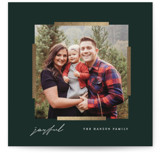 This is a green foil stamped holiday card by Baumbirdy called Modern Mark with foil-pressed printing on smooth signature in standard.