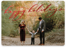This is a red foil stamped holiday card by carly reed walker called Classico with foil-pressed printing on smooth signature in standard.