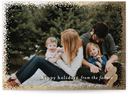 Holiday Frame Foil-Pressed Holiday Cards