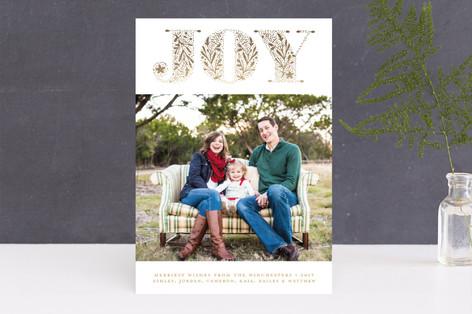 Organic Joy Foil-Pressed Holiday Cards