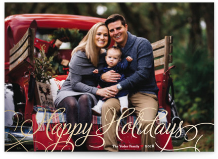 Classic Merry Foil-Pressed Holiday Cards