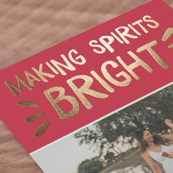 Spirited Holiday Foil-Pressed Holiday Cards By The Social