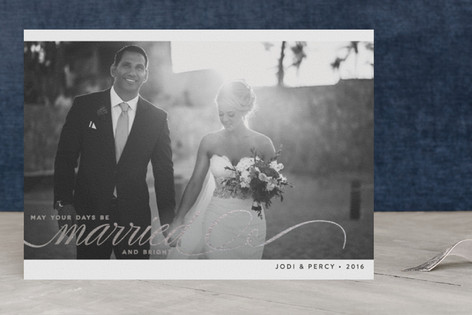 Married + Bright Foil-Pressed Holiday Cards