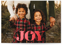 This is a white foil stamped holiday card by Ekko Studio called Every Joy with foil-pressed printing on smooth signature in standard.