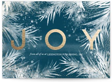 shibori pine Foil-Pressed Holiday Cards